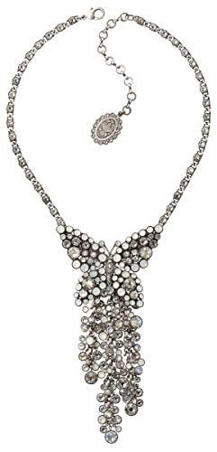 Konplott Halskette Lost Garden Y-Form silver white shiny