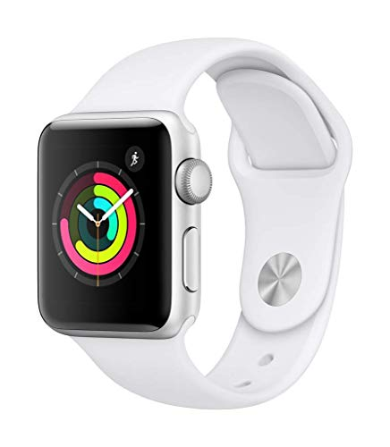 Apple Watch Series 3 38mm (GPS) - Boîtier En Aluminium Argent Avec Bracelet Sport Blanc (Reconditionné)