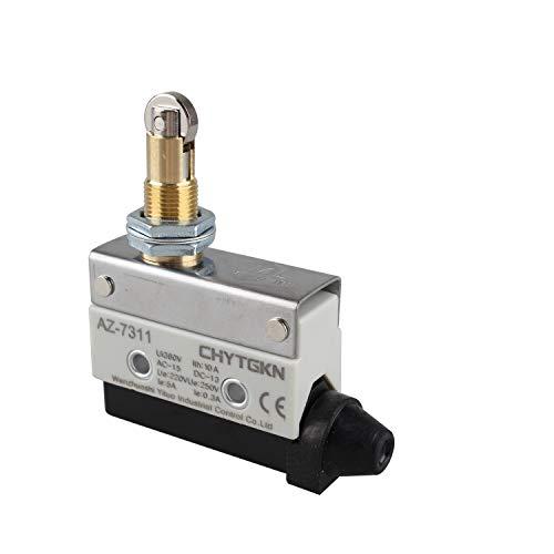 Futheda AZ-7311 TZ-7311 Interruptor de final de carrera horizontal Interruptor de micro-momento de pistón de rodillo 1NC + 1NO