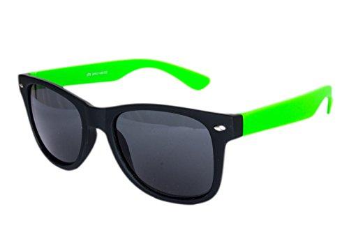 Ciffre Nerdbrille Sonnenbrille Nerd Atzen Nerdbrille Neon Grün Schwarz Gummiert Sonnenbrille Nerd Atzen Brille