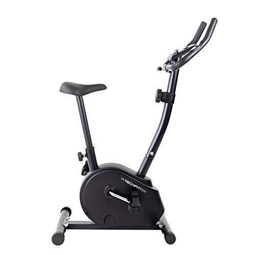 TechFit B250 - Bicicleta estática con volante de 4,5 kg, sistema magnético de 8 niveles y soporte para tablet para fitness y cardio en casa