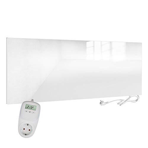Viesta H700-GW + TH10 Infrarotheizung, 700 W, Glass/Weiß, H700