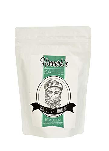 Hinnerk`s Kaffee Brasilien - 250 Gramm - schonend geröstet - Sortenrein - 100 % Arabica - ganze Bohne Kaffeebohnen