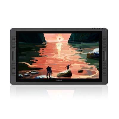 HUION Drawing Tablet Kamvas PRO 22 Tela do tablet com caneta totalmente laminada com caneta sem bateria e pressão da caneta 8192, suporte ajustável de 21,5 polegada (padrão, mais luvas)