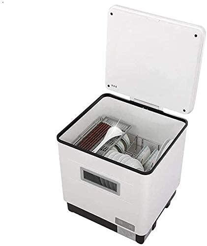 Lavavajillas Mini Máquina De Tazón De Cepillo De Escritorio Completamente Automática para El Hogar, Tecnología De Pulverización De Alta Presión 3D, Desinfección A Alta Temperatura + Esterilización U