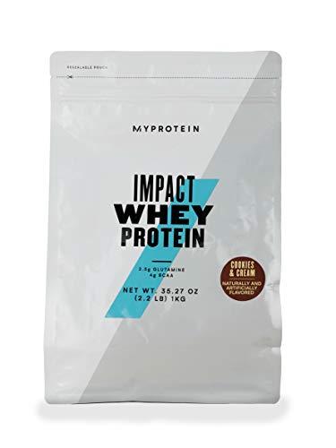 MyProtein Impact Whey Protein, Cookies & Cream, Pouch, 1kg