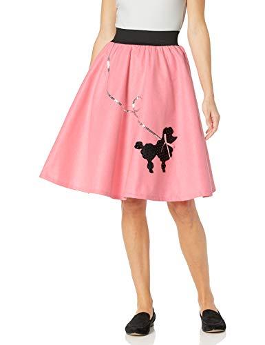FunWorld Poodle Skirt, Pink/Black, Small/Medium 2-8 Costume