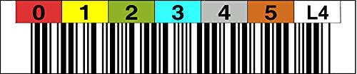 LTO 4 Label horizontal Nummernkreis 000400 - 000499