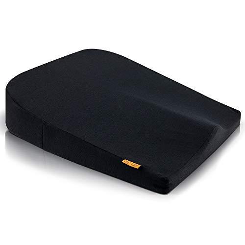 DYNMC you Keilkissen - Ergonomisches Sitzkissen Bürostuhl aus Visko Schaum – Sitzkissen Auto mit angenehmem Härtegrad - Aufstehkissen