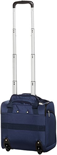 AmazonBasics Underseat Carry-On Rolling Travel Luggage Bag, 14 Inches, Navy Blue