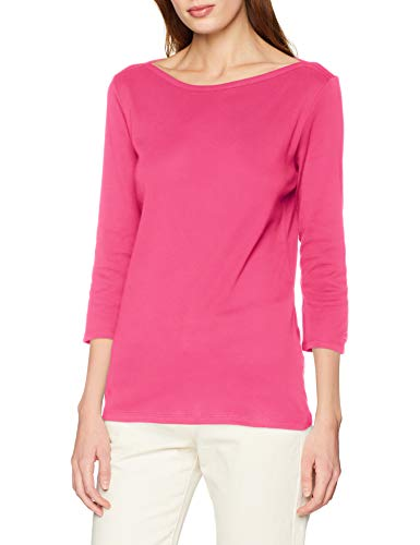 United Colors of Benetton Basico 1 Woman Maglietta a Maniche Lunghe, Donna, Multicolore (Fucsia 19t), Medium (Taglia produttore: M)