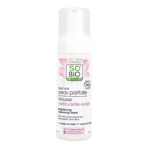 So Bio étic Mousse detergente schiarente per una pelle perfetta, 150ml
