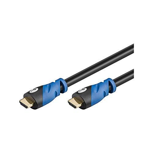 Goobay 72316 Premium HDMI High Speed Kabel mit Ethernet 4K, Ultra-/Full-HD, 3D, vergoldete Stecker 1 m schwarz