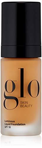 Glo Skin Beauty Luminous Liquid SPF 18 Foundation in Caramel | 10 Shades | Sheer Coverage, Dewy Finish | 1 fl. Oz.