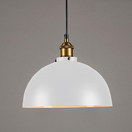 Cozyle Industriel style vintage Dôme métal pendentif lumière blanche 40cm