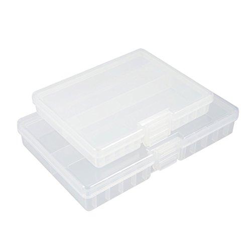 sourcingmap Boîte Piles Transparentes portatives récipient Protecteur Stockage pour AAA/AA Piles 2pcs