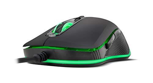 BG Hellcat - BGHELLCAT - Ratón Gaming Óptico, 4800 DPI, Color Negro