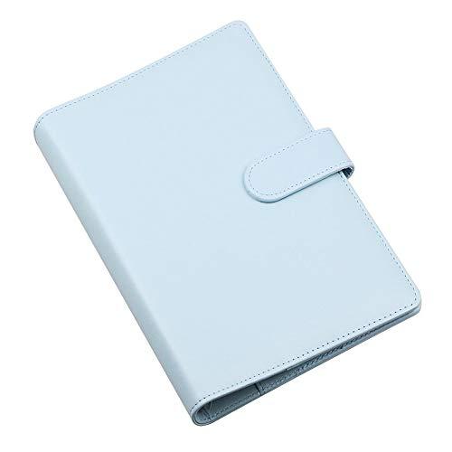 SUPERTOOL A5 - Funda de piel para cuadernos de 17,5 x 23 cm, incluye anillas para cuaderno, suave y rellenable, para diario, viajes, regalos (azul)