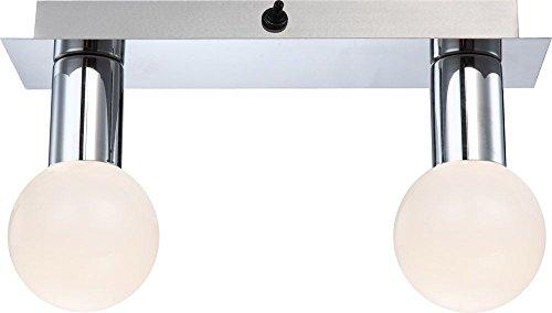 LED Wand Leuchte Glas Kugel opal weiß Strahler Lampe Wohn Bade Zimmer Beleuchtung Globo 44202-2