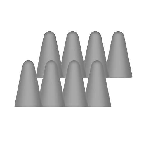 Centitenk 8 Piezas de la Tableta de lápiz Penpoint Protector Pluma Pluma Tapa Protectora de Silicona Cap Point Funda Protectora de la Tableta de lápiz Accesorios, Gris