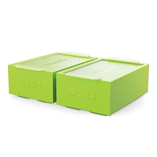 Zoku Cubito de Hielo Unisex Jumbo Trays-Set de 2, Verde