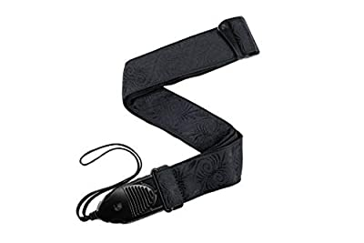 Black Swirl Acoustic Guitar Quick Release Guitar Strap