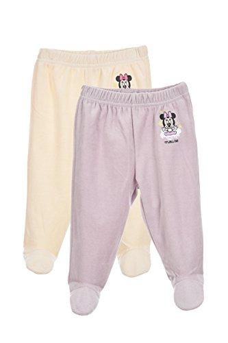Set de 2 leggings bébé fille, ROSE / BLANC, 1 mois