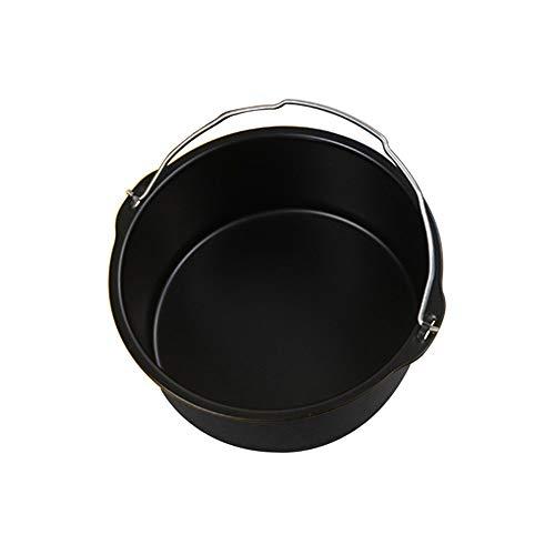 horen 20,3 cm runde Form für Fritteuse mit Griffen, rund, antihaftbeschichtet, Backblech, Backkorb, Karbonstahl, Küchenzubehör