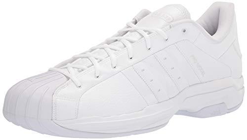 adidas Men's Pro Model 2G Low Basketball Shoe, White/White/White, 13