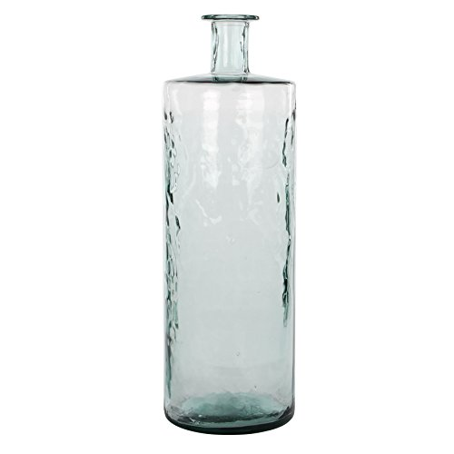 MICA Decorations Guan Glasflasche/Vase, Glas, transparent, H. 75 cm D. 25 cm