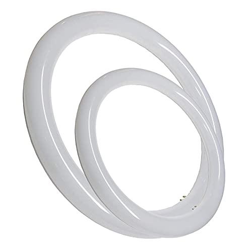 Tubo Circular LED G10, Color Blanco (6500K,). Sin instalacion. Tubo redondo cocina. (Pack (22,5cm y 30cm))