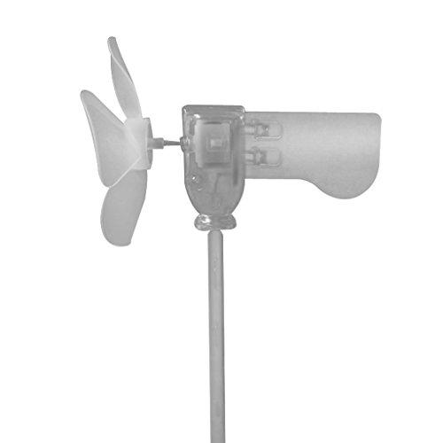 B Blesiya Generatore Eolico, Generatore di Vento in Plastica LED Turbina Eolica Fai da Te Accessori