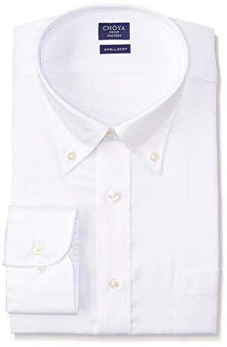 [チョーヤ] CHOYA SHIRT FACTORY 長袖メンズワイシャツ 日清紡アポロコット CFD332 201-白ボタンダウン 日本 41-84 (日本サイズL相当)