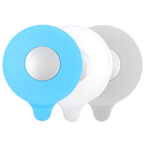 fanshiontide 3 Piezas Tapón de bañera, Tapa de tapón de Tubo, Fregadero Tapón de Succión de Silicona,Tapón de Drenaje de Silicona Universal Bañera, Servicio de lavandería (Gris,Azul,Blanco)