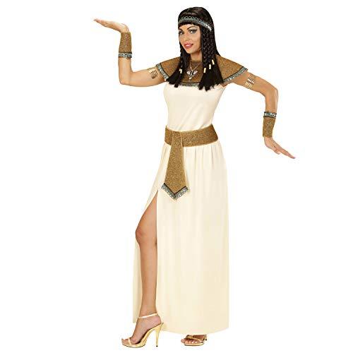 WIDMANN 67704 - Disfraz de Cleopatra, Vestido, cinturón, Cuello, Pulseras y Tocado Antiguo, Diosa, faraones, Carnaval, Fiesta temática