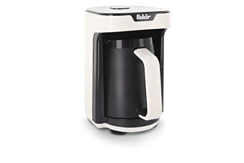 Fakir Kaave Mono - Türkische Mokka-Maschine für Zuhause & das Büro I Elektrische Kaffeemaschine mit Messlöffel I One-Touch-Control I 280 ml Behälter für 4 Tassen I Weiß I 535 Watt