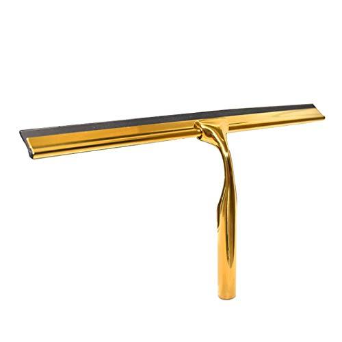 YLiansong-home Escobilla de Goma para Ducha Limpiador de Vidrio de Vidrio de Vidrio de Vidrio de Acero Inoxidable limpiaparabrisas para Ventana de Vidrio (Color : Golden, Size : Oe Size)