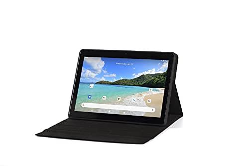 Tablet de 10 pulgadas, Android 10, Tablet PC con CPU de cuatro núcleos, 4 GB de RAM, 64 GB de ROM, IPS HD pantalla (1280 x 800), tipo C, Wi-Fi/GPS/Bluetooth 4.0, color negro