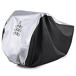 commercial Maveek for 3Cycles Bicycle Rainproof Waterproof UV Protection Triple Bicycle Cover All Weather Dust Separator… bike cover outdoor