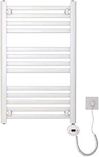 MU Toalleros Radiador termostático inteligente para calentador de toallas Radiador para baños u hoteles Práctico tendedero montado en la pared Blanco