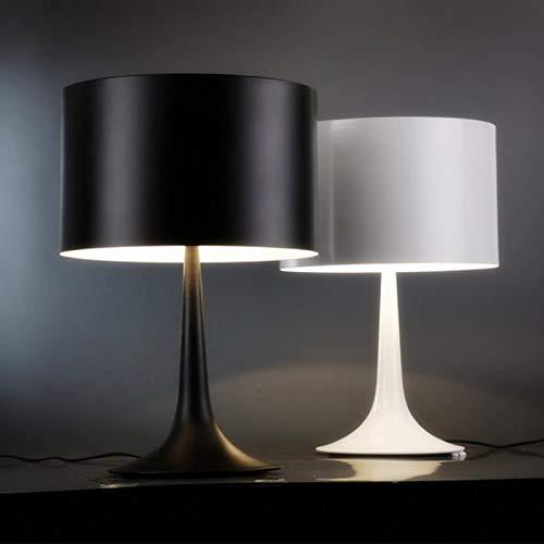 U-Enjoy Chandelier Up Down Lighting Big Side Top Quality Lamp 610Mm*390Mm Gentleman Table 5W Black/White Modern Lampshade Living Room Bedroom Decor Desk Lamp Free Shipping [White & L Size]
