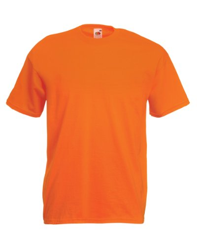Fruit of the Loom Adult Round Neck T-Shirt Style No. 7093A (Medium, Orange)