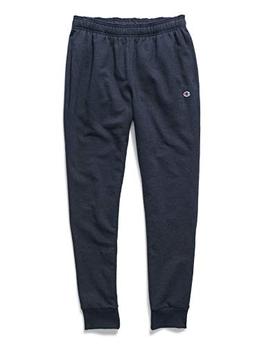Champion Men's Powerblend Graphic Jogger, Navy 549314, Medium