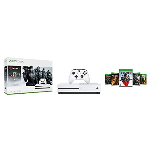 Xbox One S 1TB Console - Gears 5 Bundle (Renewed)