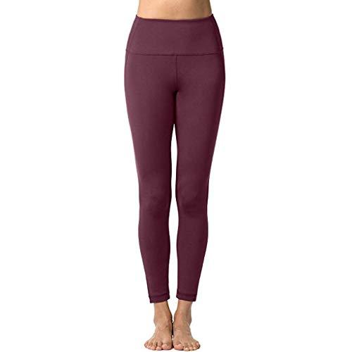 Dtuta Active Leggings Hose, Damen Armour Sporthose,Atmungsaktive Leggings,Superleichte Sport Leggings mit Kompressionspassform,Black,Gray,Wine,Größe XS/S/M/L/XL