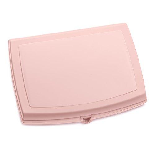 Koziol - Fiambrera Panorama para maletín, plástico, 18,3 x 23 x 4,7 cm, con Cierre de Clip, para Oficina, Escuela o Viajes, Apta para lavavajillas, Color Rosa