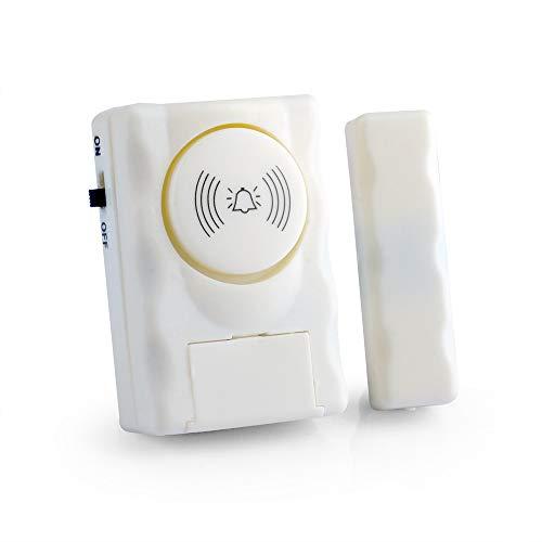 Ajcoflt Wireless Home Security Türfenster-Alarmwarnsystem 90 dB Alarmton Magnetischer Türsensor Unabhängiger Alarm...