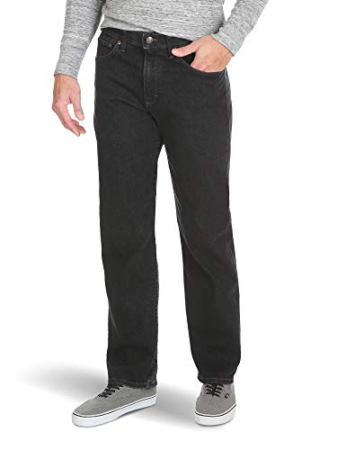 Wrangler Authentics Men's Big & Tall Relaxed Fit Comfort Flex Waist Jean, dark denim, 54x32
