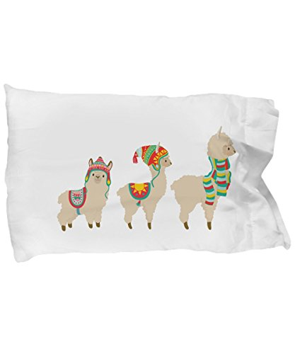 Llama Alpaca Trio Toddler Pillow Cover Pillowcase Best Cute Llamas Alpacas Themed Gifts for Toddler Girls or Boys
