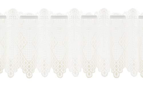 Tenda della finestra Ottica di uncinetto | Può scegliere la larghezza in segmenti da 21 cm, come vuole | Colore: crema